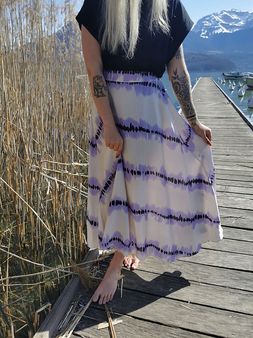Jupe MARINE (version violet / blanc)