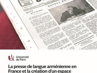 Presse Arménienne  - Séminaire Europe - Journée d'étude 7 novembre 2019