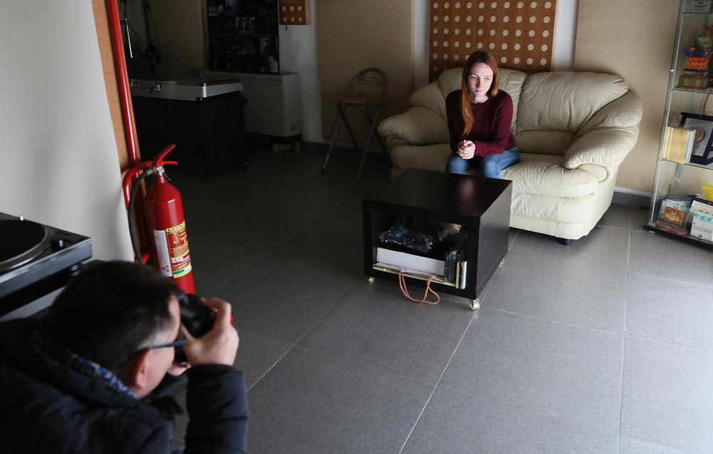 Sessione di fotografia tra i partecipanti al workshop