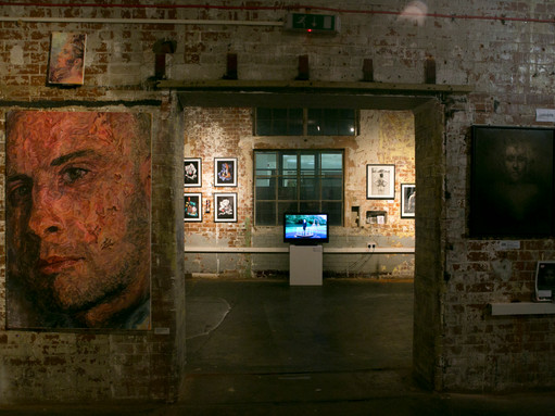 Partecipation at Exhibit Here Art's Maze at Bargehouse, Oxo Tower Wharf, London, 2017
