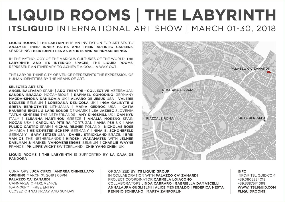 Liquid Rooms, the Labyrinth, art Exhibition in Venice, Italy