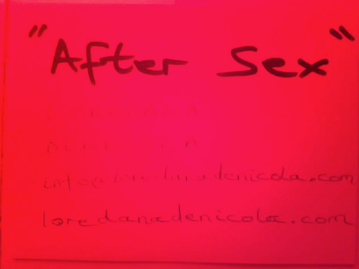 'After Sex' exhibition at 'The Waiting Room in Dalston , London, 2018