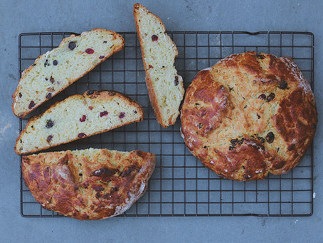 Irish Soda Bread with Golden Raisins