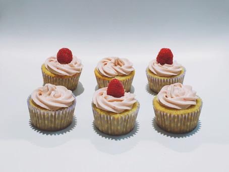 Vanilla Bean Cupcakes with Raspberry Buttercream