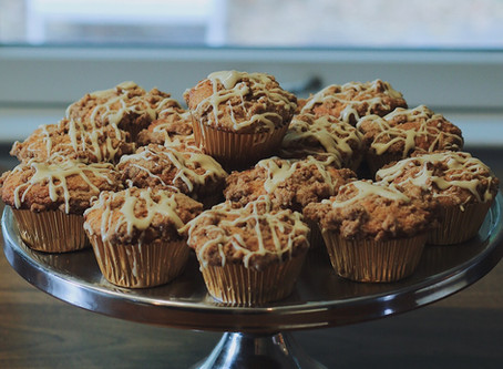 Spiced Maple Crumb Muffins