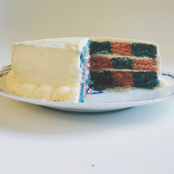 Berry Checkerboard Cake