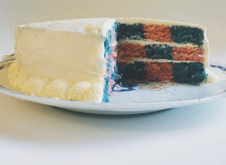 Berry Checkerboard Cake with Lemon Buttercream