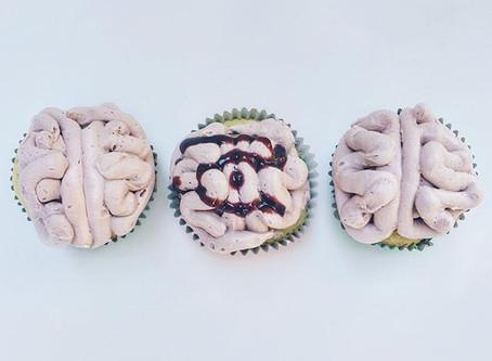 Halloween Bloody Brain Cupcakes
