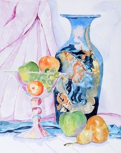 Ceramic Jar with Fruit