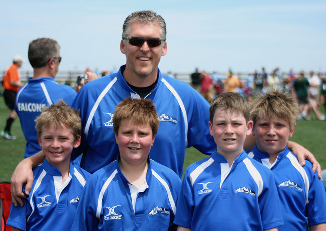 Coach Naas and his Try team in 2014