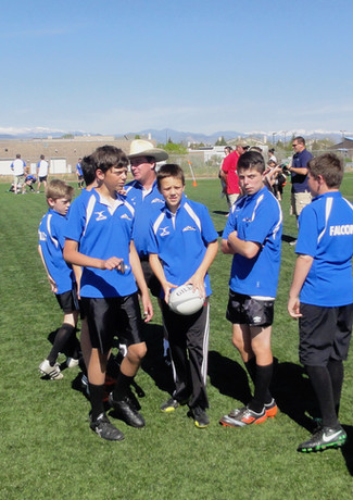 Coach Joe and our Try u/14 team in 2014