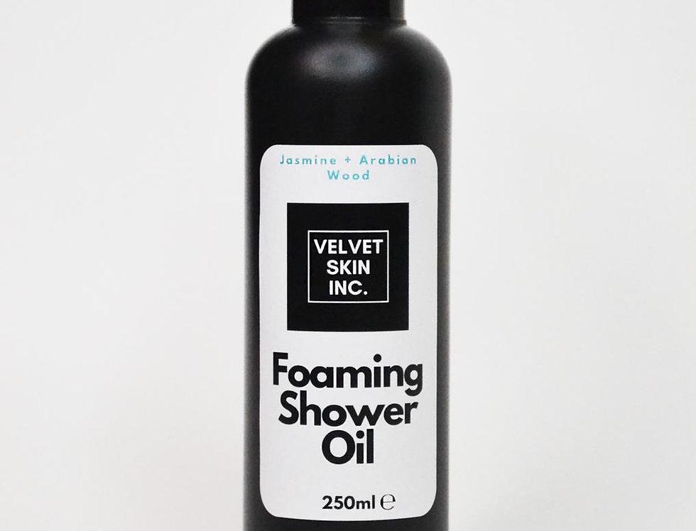 Jasmine + Arabian Wood Foaming Shower Oil