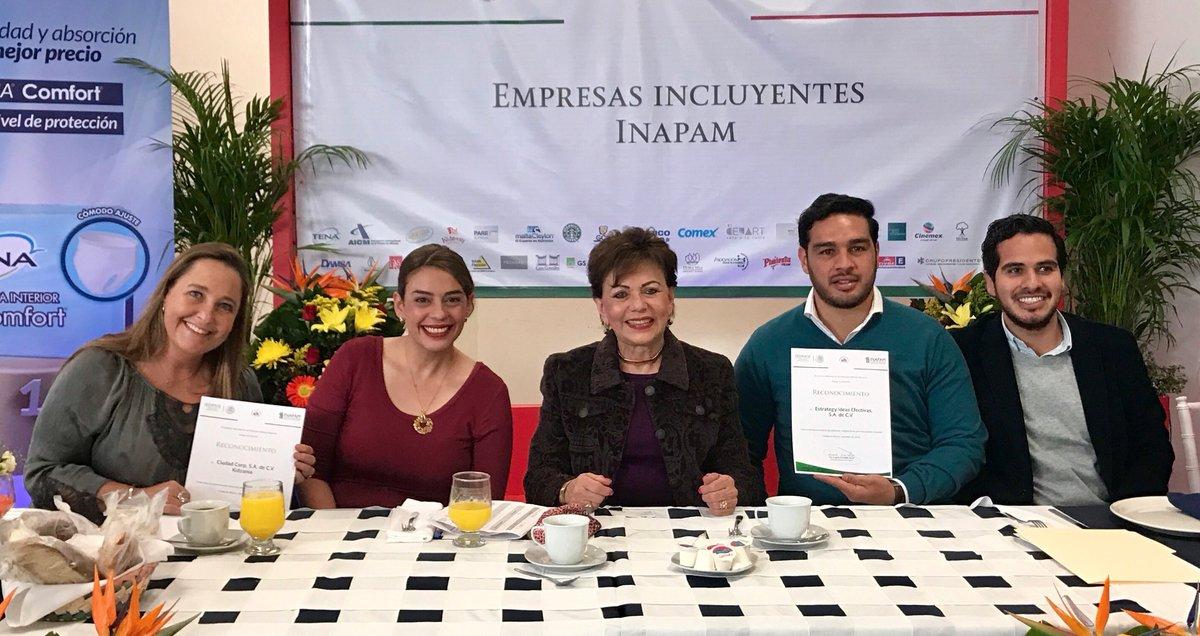 Reconoce el Inapam a 36 empresas inc