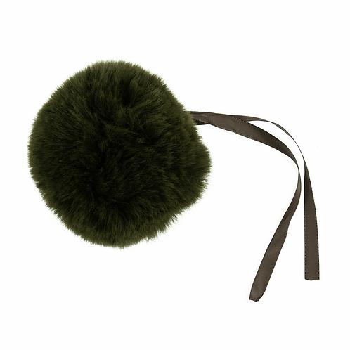 Faux Fur POM POMS, 11cm,KHAKI