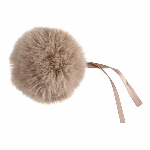 Faux Fur POM POMS, 11cm, NATURAL