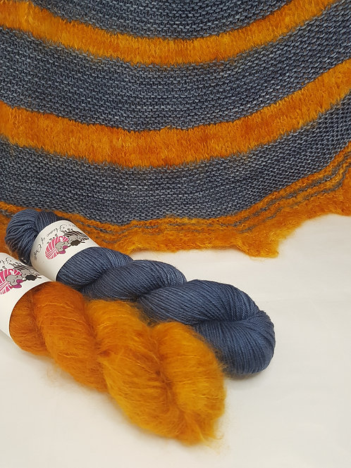 SPICE MARKET SHAWL, knitting kit, pattern and yarn kit