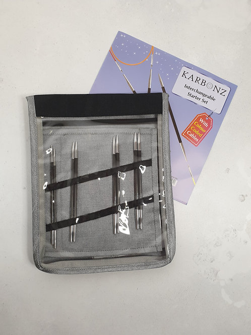 Knit Pro Karbonz Interchangeable Circular Needle Starter Set