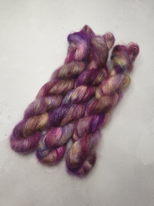 Kid Mohair Silk yarn, Lace weight, 50 g, POTPOURRI