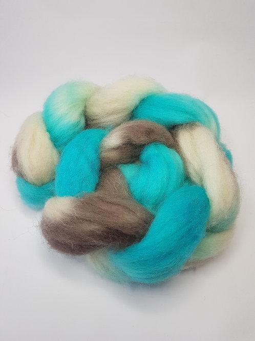 Jacob roving, wool top, 100 G, COASTAL DREAM