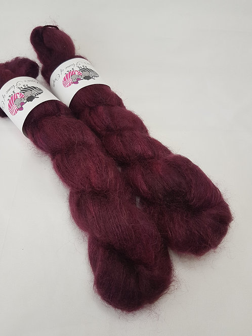 Kid Mohair Silk yarn, Lace weight, 50g, BURGUNDER