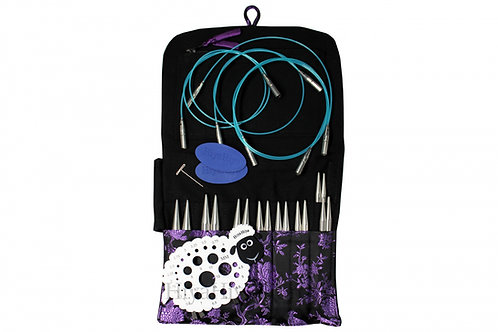 Hiya Hiya STEEL PREMIUM Interchangeable knitting needle set, large 4 ""