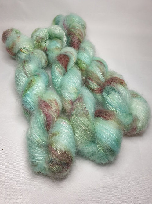 Kid Mohair Silk yarn, Lace weight, 50 g, FROSTY MORNING