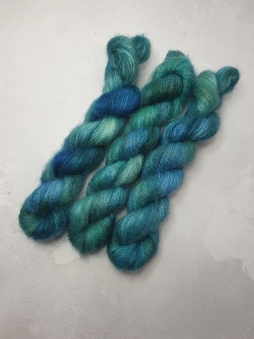 Kid Mohair Silk yarn, Lace weight, 50 g, WINTERMERE