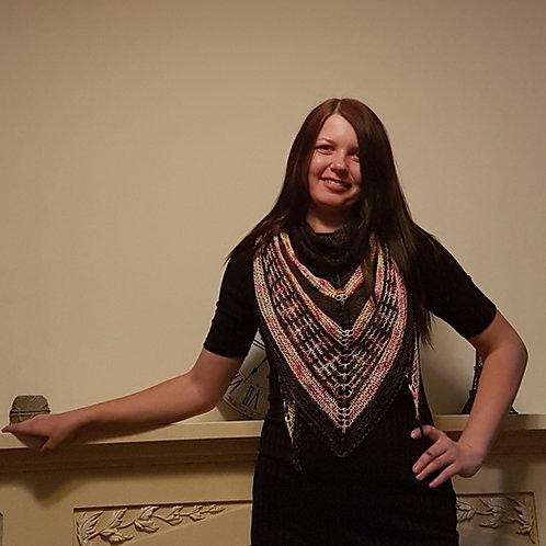 SUMMER NIGHTS SHAWL, knitting kit, pattern and yarn kit