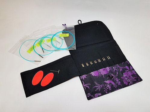 "Hiya Hiya SHARP Standard Interchangeable knitting needle set, small 4 """