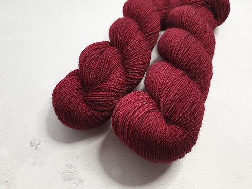 Yak, SW Merino,Nylon fingering weight yarn, 100 g, PERFECT RED