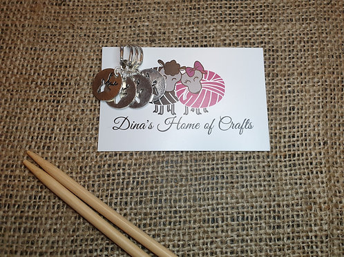 Knitting stitch markers, set of 4, REINDEER