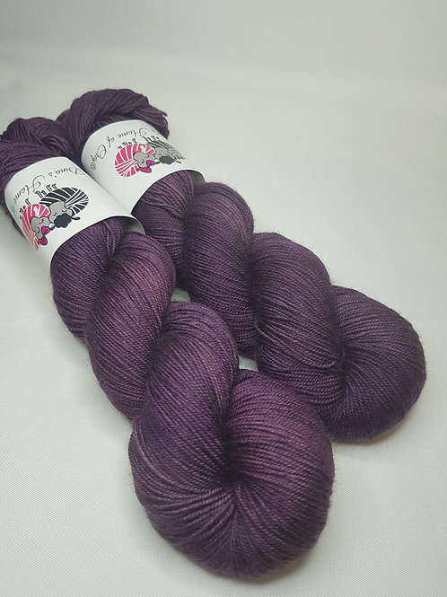 Yak, SW Merino,Nylon fingering weight yarn, 100 g, PURPLE