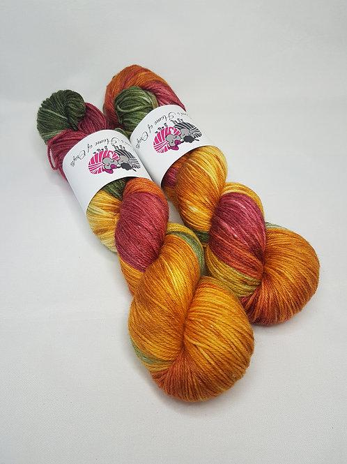 SW Merino Bamboo yarn, 4-ply, Fingering weight, 100g, AUTUMN GLORY