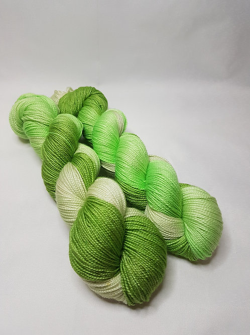 Hand dyed Merino/ Silk yarn, 4-ply, fingering weight, HANNAH, 100g, high twist