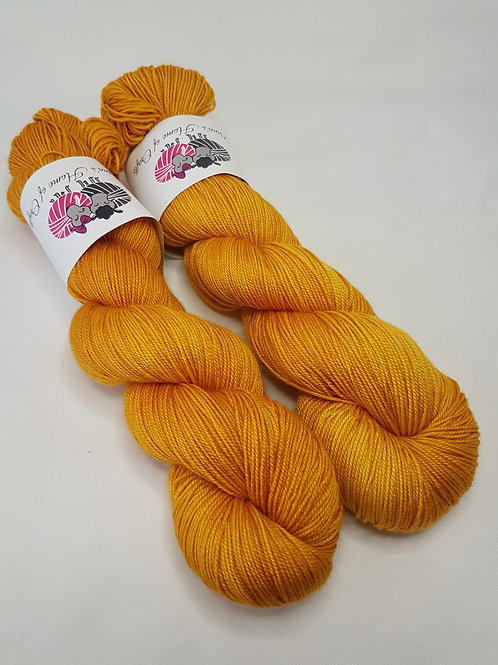 SW Merino Silk Cashmere yarn, 4-ply, Fingering weight, 100g, PURE GOLD