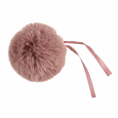 Faux Fur POM POMS, 11cm, DUSKY PINK
