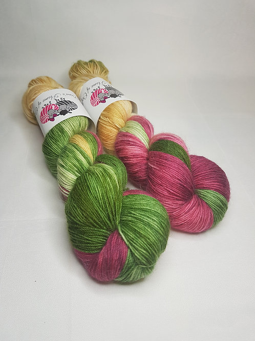 SW Merino Alpaca Nylon yarn, fingering weight, 100g, VINTAGE CHRISTMAS