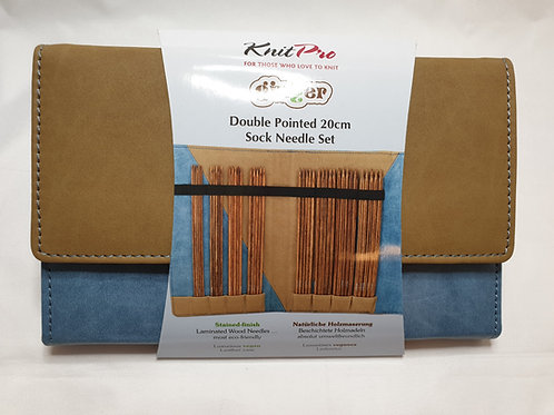 KnitPro GINGER double pointed needle set 20cm