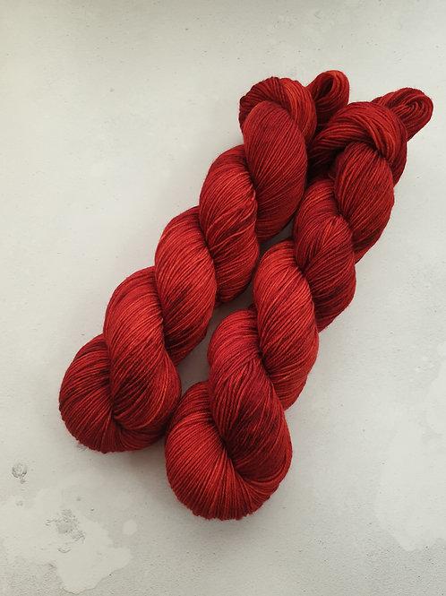 SW Merino Nylon yarn, 4-ply, Fingering weight, 100g, FIRETOOTH
