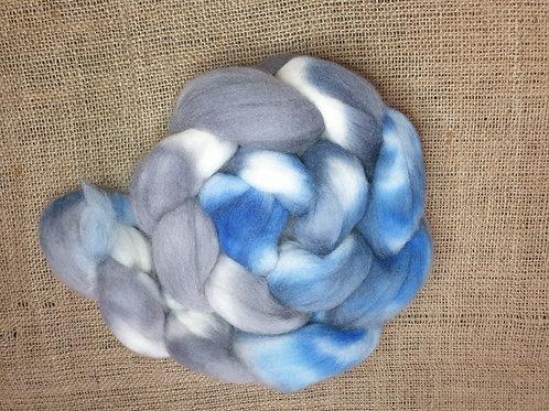 Merino roving, wool top, 100 g,GLACIERS