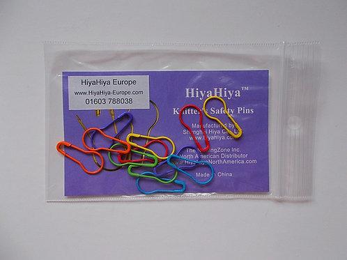 HiyaHiya knitters safety pins, round safety pins,12 pcs, bright colours