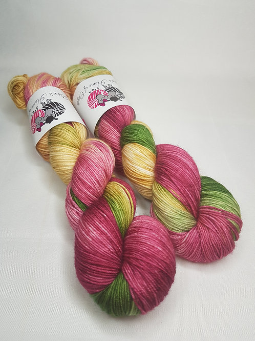 SW Merino Nylon yarn, 4-ply, Fingering weight, 100g, VINTAGE CHRISTMAS