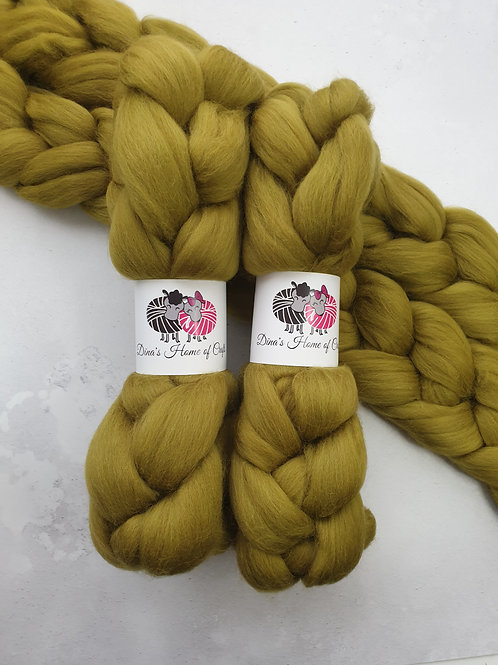 Merino roving, wool top, 100 g, LICHEN