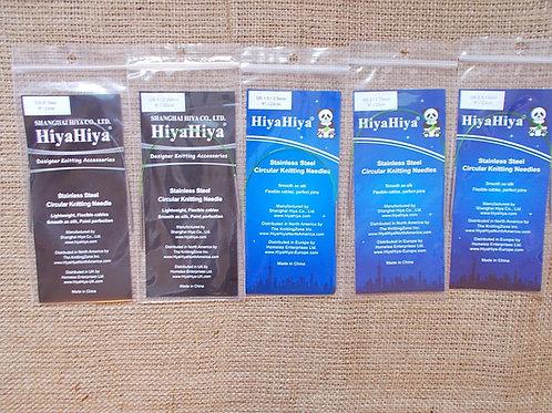 "HiyaHiya Stainless Steel Circular Knitting needles, 2-5.5 mm, 23 cm/ 9"""