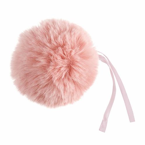Faux Fur POM POMS, 11cm, LIGHT PINK