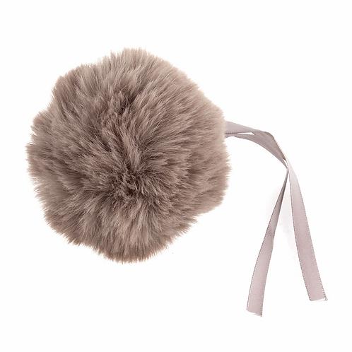 Faux Fur POM POMS, 11cm, MINK