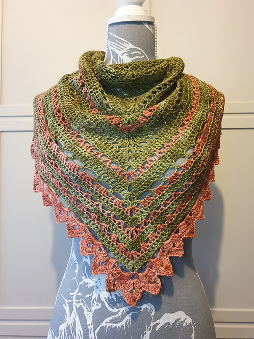 LEGACY SHAWL, crochet kit, pattern and yarn kit