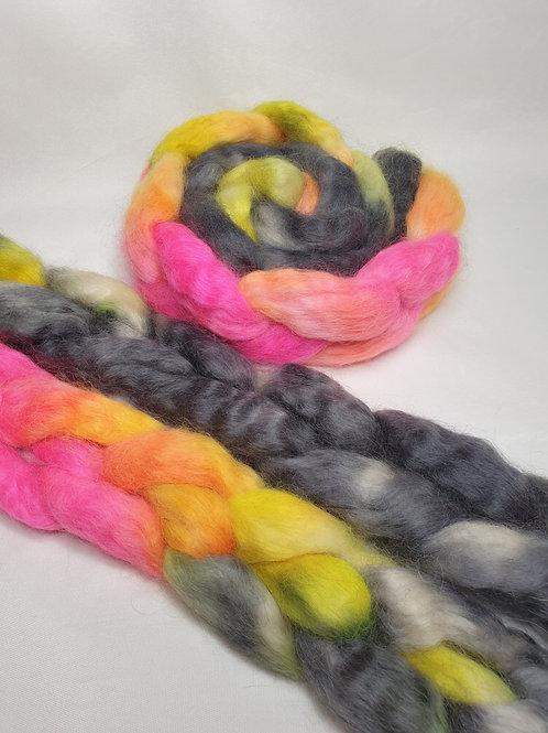 Wensleydale Longwool roving, wool top, 100 G, SUNDROPS