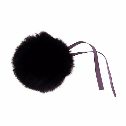 Faux Fur POM POMS, 11cm, DARK PURPLE