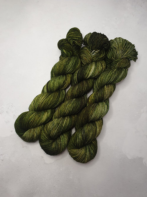SW Merino Nylon yarn, 4-ply, Fingering weight, 100 g, CHASING THE FERN